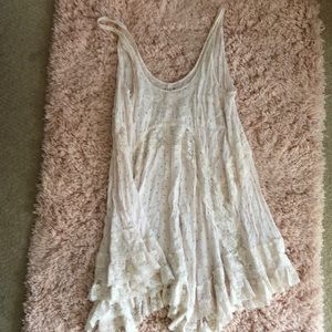 Free People Intimately Light Pink Lace Dress